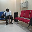 ヤンゴン空港の喫煙室内